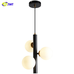 Lamba Lambalar Askıya Asma FUMAT Nordic 3 Işık G9 Led Avizeler Mat Metal Cam Topu kolye Avize Luster Luminarias