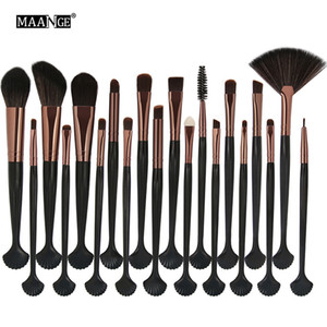 MAANGE 20 stücke Kosmetik Make-Up Pinsel Set Powder Foundation Lidschatten Eyeliner Lippenpinsel Werkzeug Marke Make-Up Pinsel Schönheit Werkzeuge
