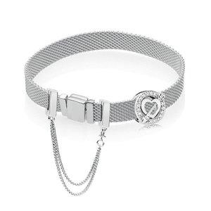 klip Fit orijinal pandoras logosu takılar Kadınlar güvenliğini ilk bakışta Yeni 925 gümüş bilezik aşk Bileklik Takı Hediye boncuk