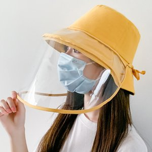 Transparent Anti Saliva Hat Splash Dust Proof Full Face Shield Protection Cover Bucket Hat Muli-color Face Shield Protection