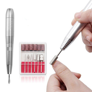 Profesional Eléctrico Nail Drill Pen Bits Nail Kit de Enfermería USB Pedicure Manicure Polish Machine Nail Art Tool