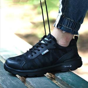 2019 رجل امرأة زوجين أحذية العمل زوجين تنفس الدانتيل متابعة الصلب تو مكافحة تحطيم المضادة للثقب سلامة عارضة أحذية العزل