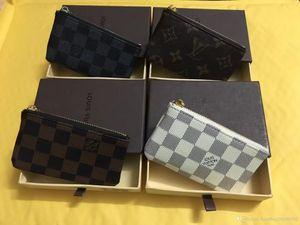 Real Leather ID Card Case Кошелек Классический черный Тонкий кредитной карты держатель кошелек 2019New Fashion Business Men Слим монет монета кошелек бесплатная доставка