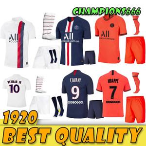 الرجال أطقم باريس 2019 2020 مجموعات كرة القدم 19 20 باريس سان جيرمان لكرة القدم جيرسي كافاني MBAPPE NEYMARJR الكبار عدة مايوه كرة القدم قميص + بنطلون + الجوارب