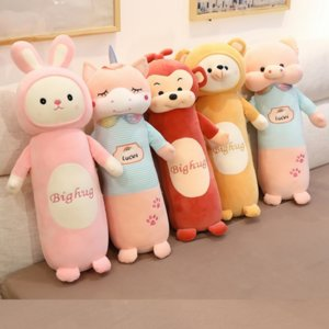 Cute long cartoon rabbit doll bed sleeping cylinder female pregnant women pillow cushion leg Baby maternity pillow clip