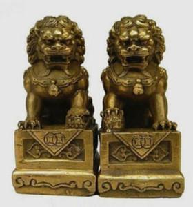 النحاس النحاس الصينية الحرف الآسيوية الصين الصينية فنغشوي الشعبية فو فو الكلب guardion باب الأسد تمثال النحت