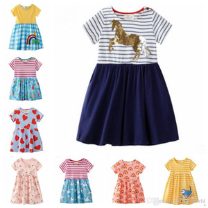 Baby Girls Clothes Embroidered Princess Dresses Designer Girl Dress Short Sleeve Children Outfits Summer Kids Clothing 11 Designs YW2720