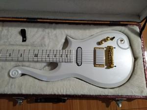 Super Rare Prince Cloud White E-Gitarre Erle Korpus, Ahorn Hals, Wrap Around Bridge Deluxe Lila Croco Leather Hardcase Weiß Inner