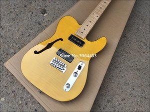 High quality electric guitar,TL style with F hole,mahogany body with Maple neck,Custom electric guitar,free shipping