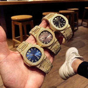 1: 1: N primeros producción de la fábrica 5719 / 1G-001 de lujo para hombre relojes del reloj de diamantes Cal.324 SC relojes de diseño de movimiento mecánico automático