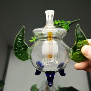 Hot-selling color tripod glass cigarette kettle in Europe and America Wholesale Glass Water Pipes Tobacco Accessories Glass Ash Catcher