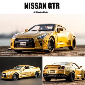 New 01:32 NISSAN GTR Raça da liga do carro modelo Diecasts Toy Vehicles Toy Cars presentes frete grátis Kid brinquedos para crianças Boy Toy T191218