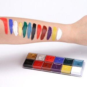 12 em 1 À Prova D 'Água Rosto Corpo Pintura Arte do Fancy Dress Beleza Maquiagem Play Palette Partido Pigmento Pintura Corporal MakeUp