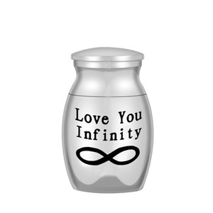 25x16mm Love You Infinity Small Keepsake Urns for Human Ashes Mini Cremation Urns for Ashes Memorial Ashes Holder