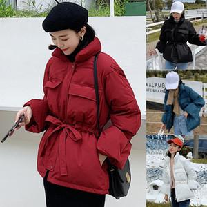 JAYCOSIN 2019 Inverno Donna Solid Zipper Sweety Pane appendiabiti collare fusciacche casuale breve cotone imbottito giacche giacca calda 126