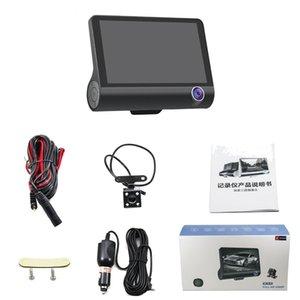 Coche DVR 4 pulgadas 3 cámaras Lente HD 1080P Coche DVR Rearview Video Dash Cam Grabadora Cámara Automóvil Alta calidad