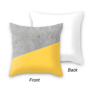 17 Styles 45x45cm Yellow Striped Pillowcase Geometric Throw Cushion Pillow Cover Printing Cushion Pillow Case Bedroom Office