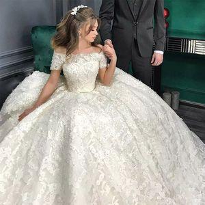 Custom Made Royal Train Wedding Dresses Ball Gown Long Sleeves Robe De Soiree Long Robe De Mariage Bridal Wedding Dress