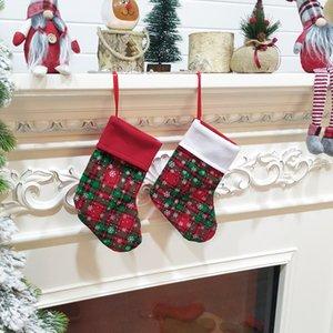 Christmas Stockings Schöne hängende Ornamente Weihnachtsmann-Socken-Geschenk Kinder Candy Bag Weihnachtsgeschenk Holders Weihnachtsbaumschmuck