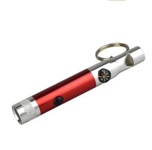 سبائك الألومنيوم صافرة التكتيكية مع الصمام الاضواء بوصلة المحمولة سلسلة المفاتيح المعدنية مصغرة الشعلة مخيم في الهواء الطلق بقاء الطوارئ صافرة السفر