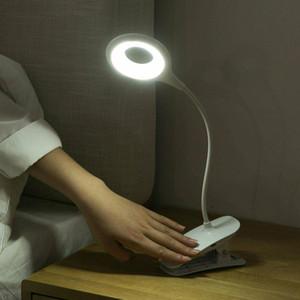 US Stock Book Lights 4000K Flexible USB Clamp Clip On LED Light Craft Reading Desk Bedside Table Lamp
