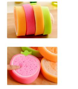 Cazip kalınlaşmak meyve şekli sünger ovma pedi sihirli sünger yıkama yemekleri yağ direnci kalınlaşmış sihirli ovma toptan