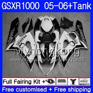 + Бак для SUZUKI GSXR 1000 1000CC GSX R1000 2005 2006 Кузов 300HM.48 GSX-R1000 GSXR-1000 1000 CC K5 GSXR1000 05 06 Обтекатель PRAMAC белый