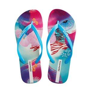 Hotmarzz Women's Flip Flops Floral Pattern Sandals Colorful Summer Slippers 2019 Season, Ocean Series
