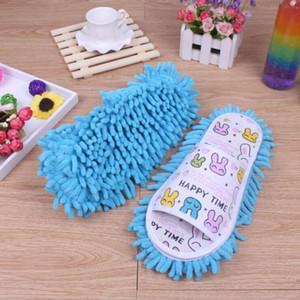 Pigro pulizia del piede Cleaner Shoes Mop Slipper morbida microfibra da indossare scarpe Bathroom Floor Spolverare Cover Casa Cleanning Strumenti XHCFYZ125