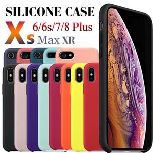 Custodia in silicone per iPhone 11 PRO MAX Cover in silicone liquido Custodia protettiva antiurto per iPhone XR XS MAX 7 8 PLUS con scatola al dettaglio