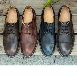 designermens de lujo de lujo diseñador de zapatos de vestir de marca de moda de cuero genuino formal de Oxford Acordonadas louisv hombre en punta zapatilla de deporte de negocios