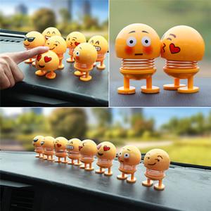 2019 Enfeites de Carro Engraçado Primavera Brinquedo Interior Acessórios Emoji Shaker Auto Decorações Shaking Head Boneca Decoração Do Carro Brinquedo