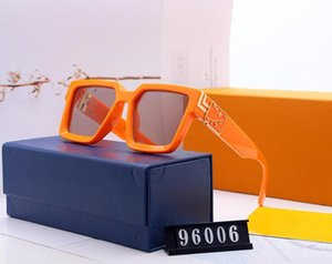 2019 Luxury MILLIONAIRE M96006WN occhiali da sole full frame di design Occhiali da sole dell'annata per gli uomini placcato oro lucido Logo Hot vendere oro Top NO BOX