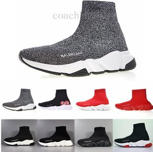 Cheap Women Mens Sock Speed Trainer Shoes Sneakers Knitting Slip-on High Quality Casual Walking Shoe Comfort All Black Chaussures K56L