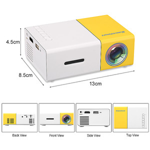 YG300 LED Mini Projecteur portable 500lm audio 3,5 mm Pixel HDMI USB Mini YG300 Projecteur Lecteur média enfants Éducation Projetor Retail DHL