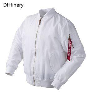 DHfinery Thin White Bomber Flug regen Windjacke wasserdicht Varsity Letterman Baseball Jacke Größe: XS-2XL FL03