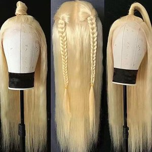 613 Blonde Silky Straight Human Hair Wigs 360 Lace Frontal 180 density Blonde Straight 613 Wigs for Black Women