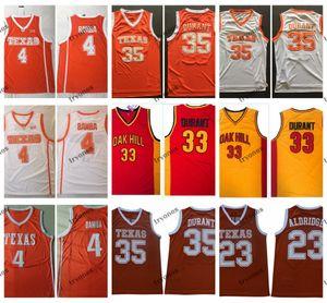 Texas Longhorns Kevin Durant 35 Lamarcus Aldridge 23 Mohamed Bamba 4 대학 농구 유니폼 Durant Oak Hill High School Stitched Jersey
