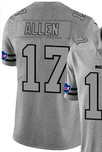 Hanf Ash Throwback Limited Jersey Männer Mann Buffalo 17 Jersey Shirts Alle Teams American Football-Trikots