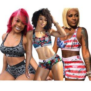 Femmes Sexy Impression numérique HD Set Femmes Ethika Maillot de bain 2 pièces bikini veste soutien-gorge et Short de bain Costume luxe Beachwear Ty6008