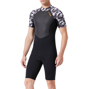 Wetsuit Men Full 1.5mm Surfing Suit Shorty Diving Snorkeling Swimming Jumpsuit Swimwear- One Piece