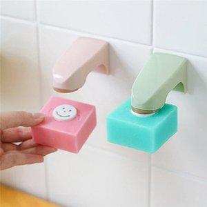 Início criativa Bathroom Wall Hanging Soap cremalheira sabão armazenamento do banheiro organizador magnético Dispositivo otário Caixa de Sucção