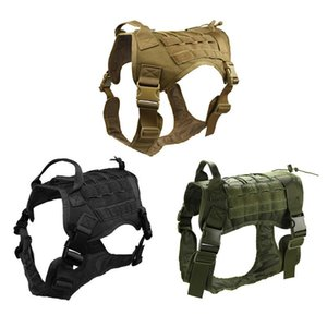 Hunting Tactical Dog Modular Harness with No Pull Front Molle Clip law enforcement K9 Working Cannie Hunting Vest