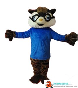 Clearance Adult Size Alvin Chipmunk Mascot Costume Cartoon Mascots for Birthday Party Custom Mascots Deguisement Mascotte Arismascots