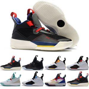 Scarpe da pallacanestro da uomo XXXIII PF 33 Future of Flight alta qualità 33 Tech Pack 33s Sneaker nere grigio scuro Smoke Sail