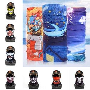 Açık Sorunsuz Sihirli Kafatası Eşarp Yüz atkısı Açık Yüz Maskesi DHB408 Isınma Eşarp Bisiklet Binme Maskeler Maske