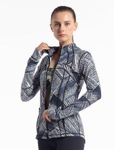Спортивная одежда с длинным рукавом футболки Женщины Yoga тренажерном зале Компрессионные чулки и колготки для женщин для Фитнес Йога Обучение Zipper Jacket