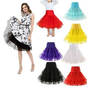 Kız Kadınlar Artı boyutu Tutu Etek 50s Retro düğün için jüpon tül jüpon Fance Elbise Petticoat Salıncak