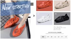 2020 Skeleton mousse Runner os chaussons été kanye plage Runner Racer Sneakers 35-45 v2 ouest chaussures noir rouge sport runnning