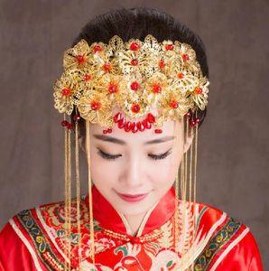 Braut Phoenix Crown Kopfschmuck klassische Quaste-Haar-Kamm-Stecker Comb Set 012